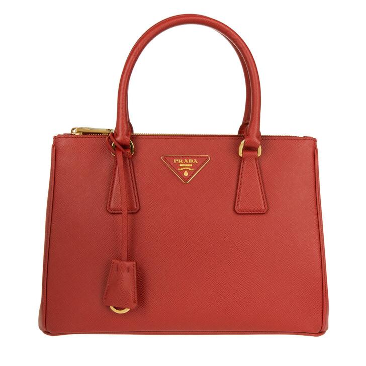 bags, Prada, Galleria Tote Bag Medium Fuoco