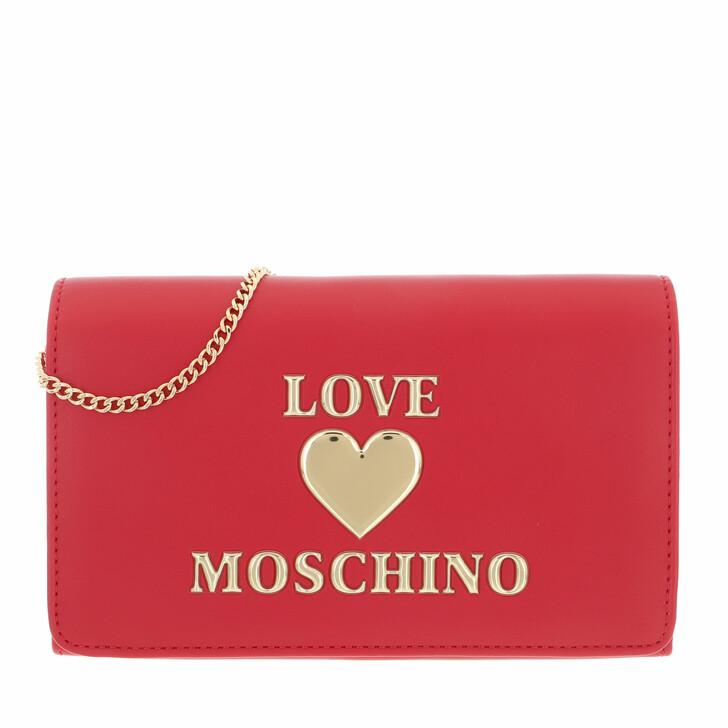 bags, Love Moschino, Borsa Pu  Rosso