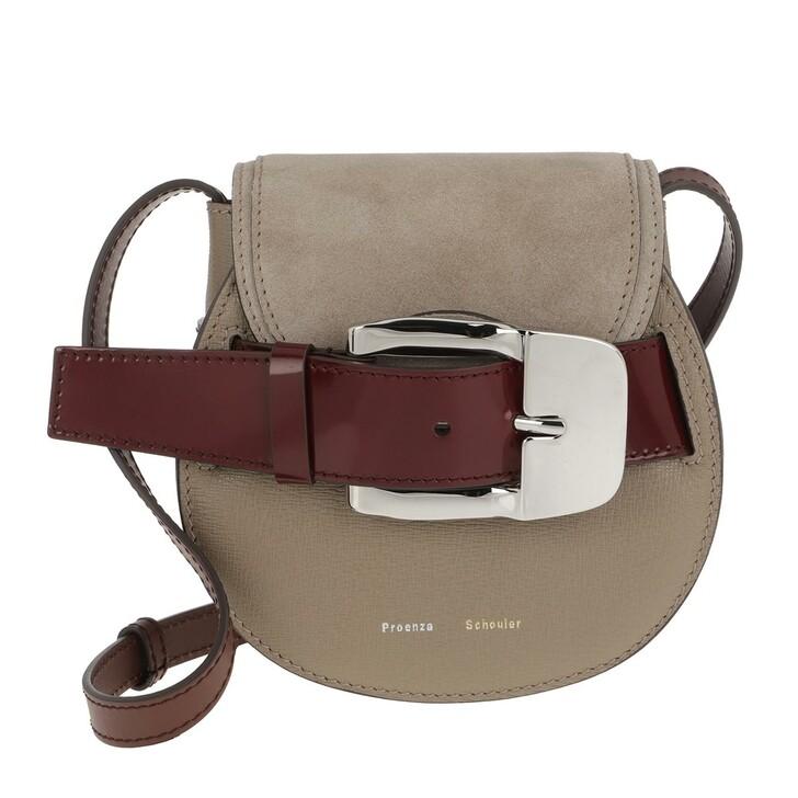 Handtasche, Proenza Schouler, Buckle Mini Crossbody Bag Calfskin Light Taupe