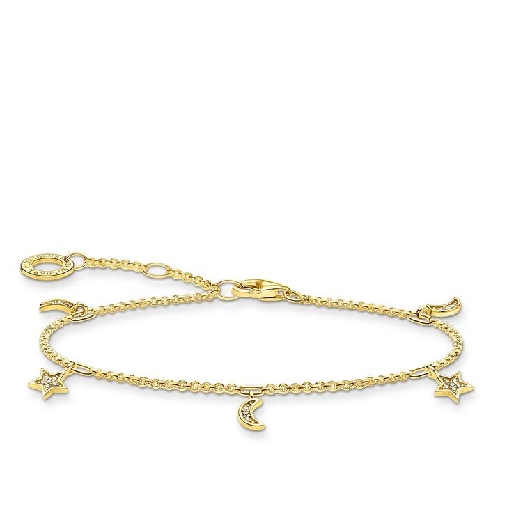 Armreif, Thomas Sabo, Bracelet Star & Moon Pearl White