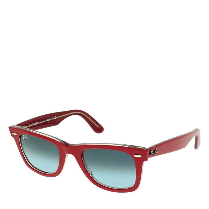 Sonnenbrille, Ray-Ban, Unisex Sunglasses Icons 0RB2140 Red On Transparent Grey
