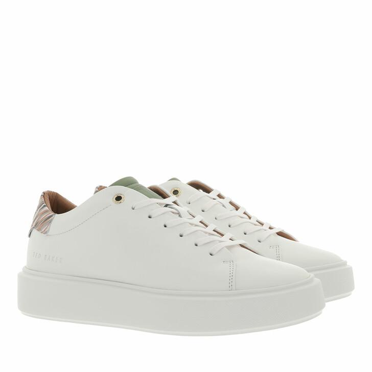 shoes, Ted Baker, Pixep Persimmon Zebra Platform Trainer White