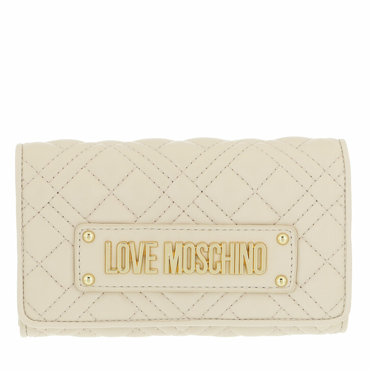 wallets, Love Moschino, Portafogli Quilted Pu  Aviorio