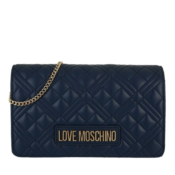 bags, Love Moschino, Borsa Quilted  Pu  Navy