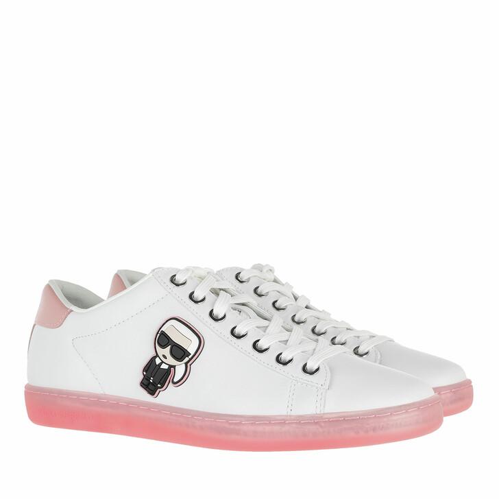 Schuh, Karl Lagerfeld, KUPSOLE II Karl Ikonic Lo Lace White Lthr w/Pink