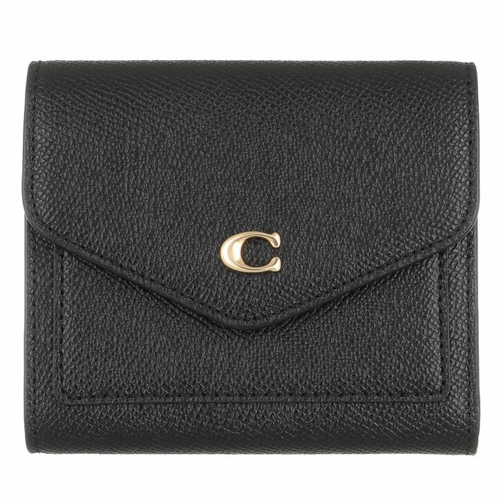 Geldbörse, Coach, Crossgrain Leather Wyn Small Wallet Li/Black