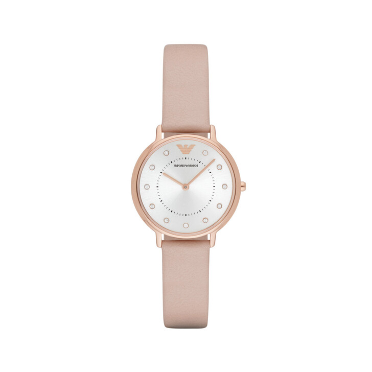 Uhr, Emporio Armani, AR2510 Ladies Kappa Watch Leather Nude