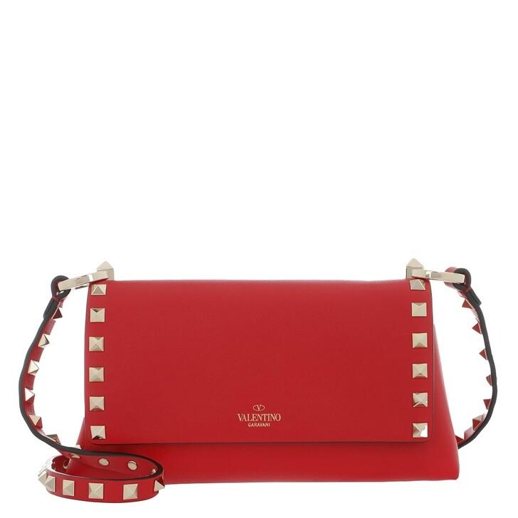 Handtasche, Valentino Garavani, Rockstud Crossbody Bag Leather Red