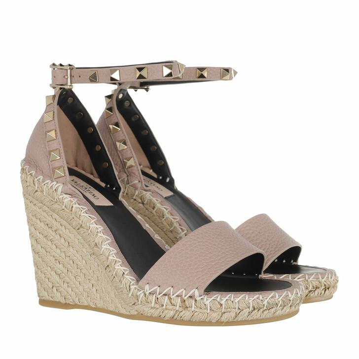 Schuh, Valentino Garavani, Rockstud Wedges Nude