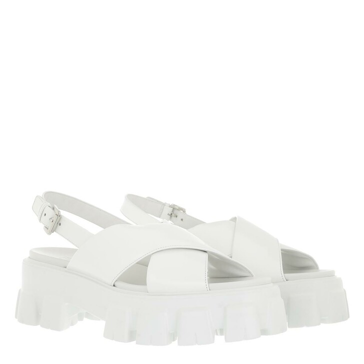 Schuh, Prada, Sandals White