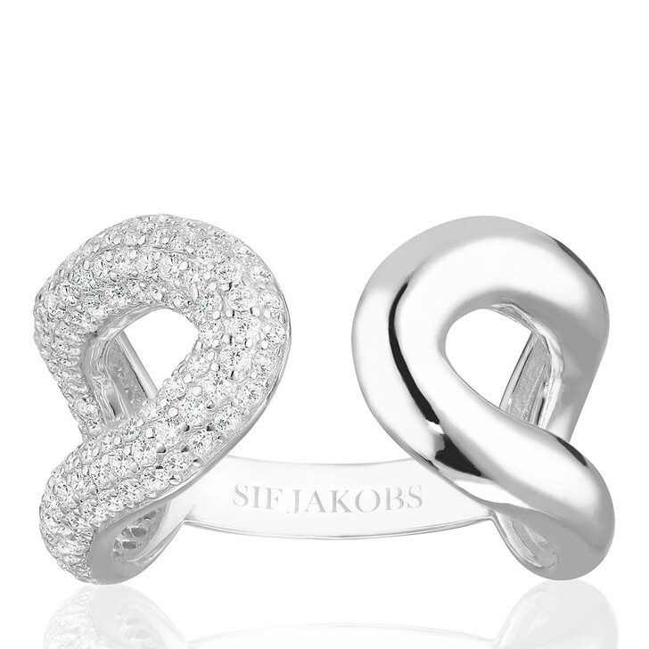 rings, Sif Jakobs Jewellery, Capri Due Ring Sterling Silver