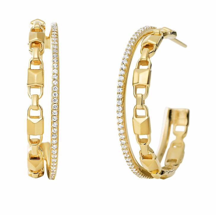 Ohrring, Michael Kors, MKC1014AN710 Hoop Mercer Link Gold