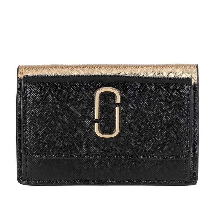 Geldbörse, Marc Jacobs, Mini Trifold Wallet New Black/Multi