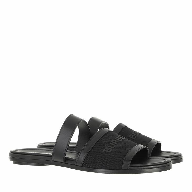 shoes, Burberry, Honour Logo Slides Black