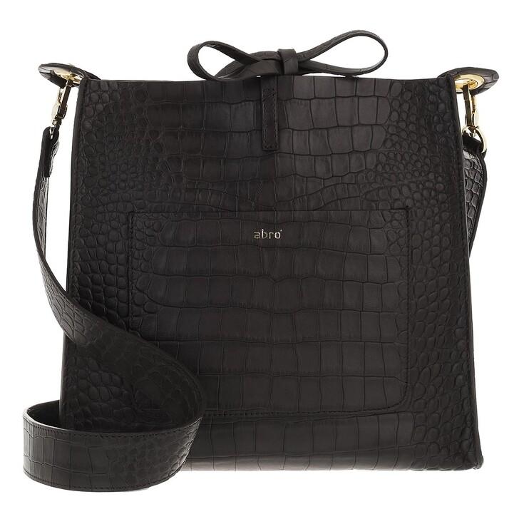 bags, Abro, Crossbody Bag RAQUEL medium  Dark Brown