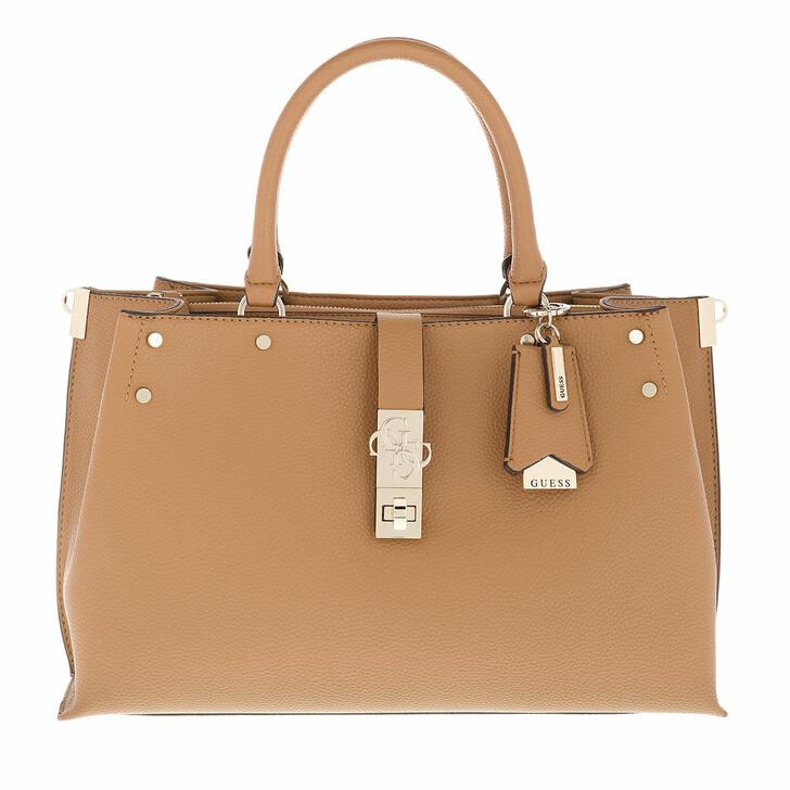 bags, Guess, Albury Lrg Girlfriend Satchel Caramel