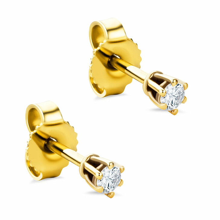 earrings, DIAMADA, 9KT 0.12ct Diamond Earring Yellow Gold
