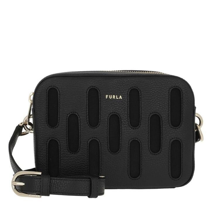 bags, Furla, Block Mini Crossbody Nero