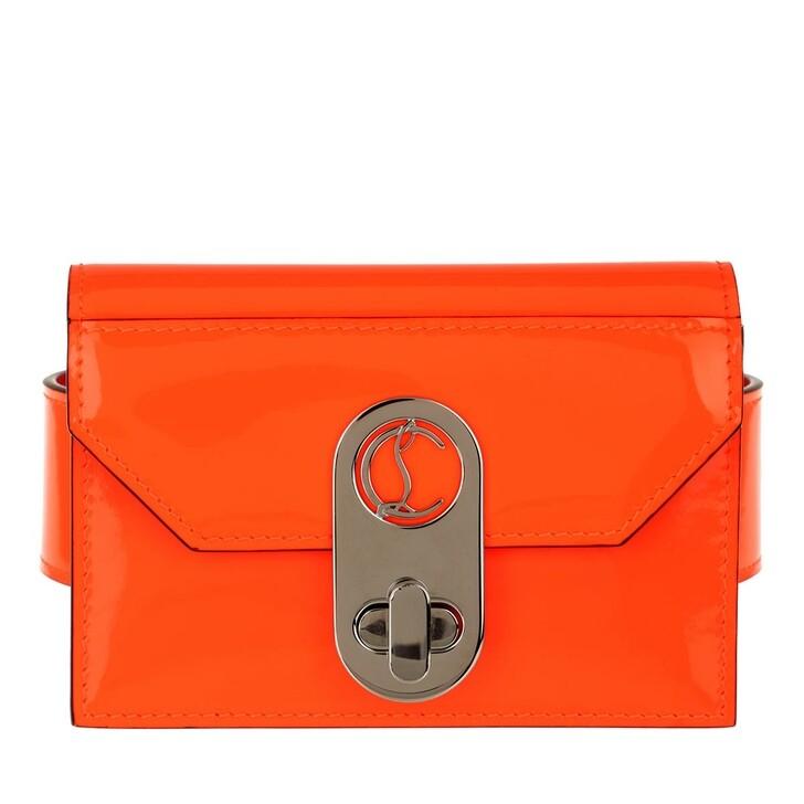 Geldbörse, Christian Louboutin, Elisa Ankle Card Holder Orange