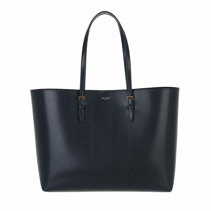 bags, Saint Laurent, Medium Tote Bag Leather Blue Black