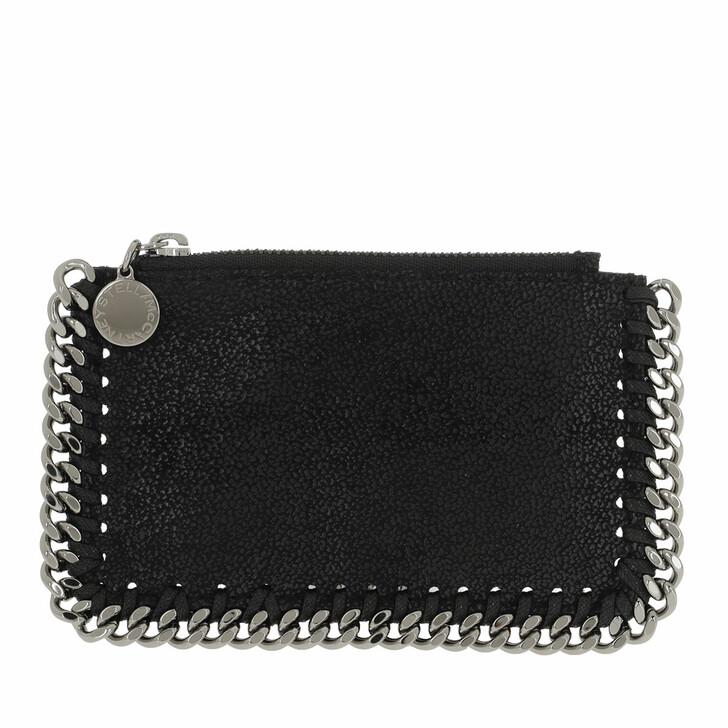 Geldbörse, Stella McCartney, Falabella Card Case Leather Black