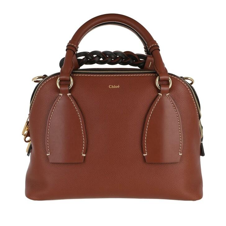 bags, Chloé, Daria Shoulder Bag Medium Sepia Brown