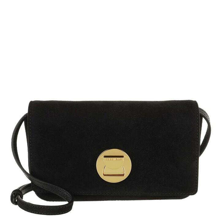 bags, Coccinelle, Mini Bag Suede Leather Noir/Noir