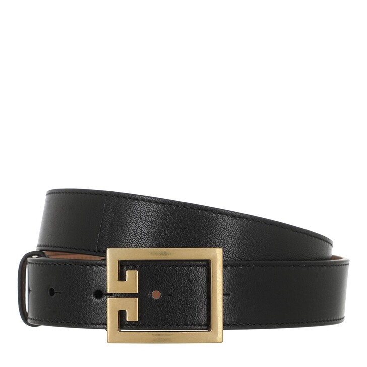 Gürtel, Givenchy, GV3 Logo Buckle Belt Leather Black