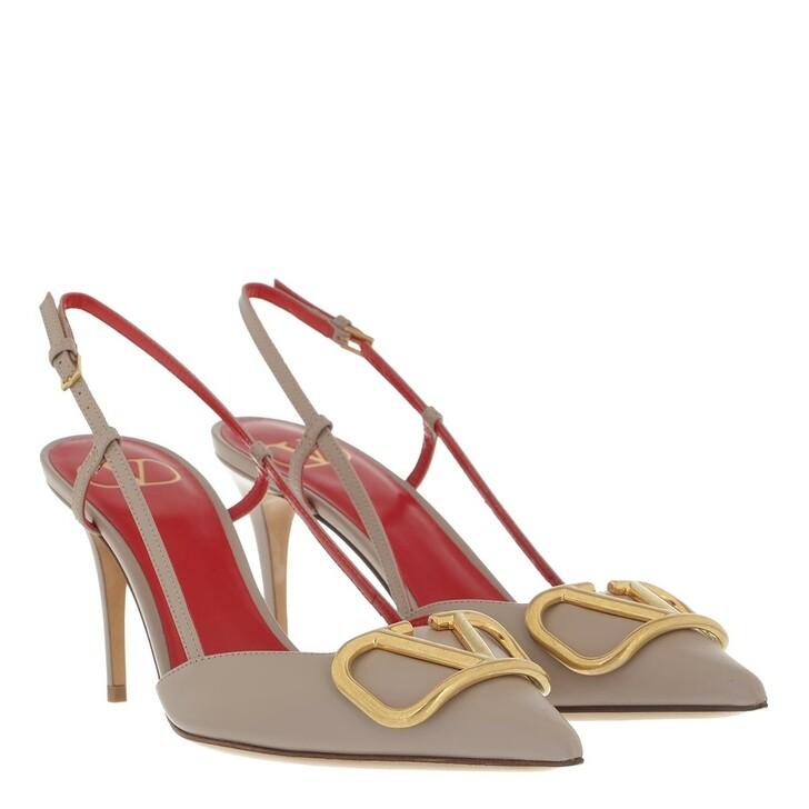 shoes, Valentino Garavani, VLogo Signature Slingback Pumps Poudre