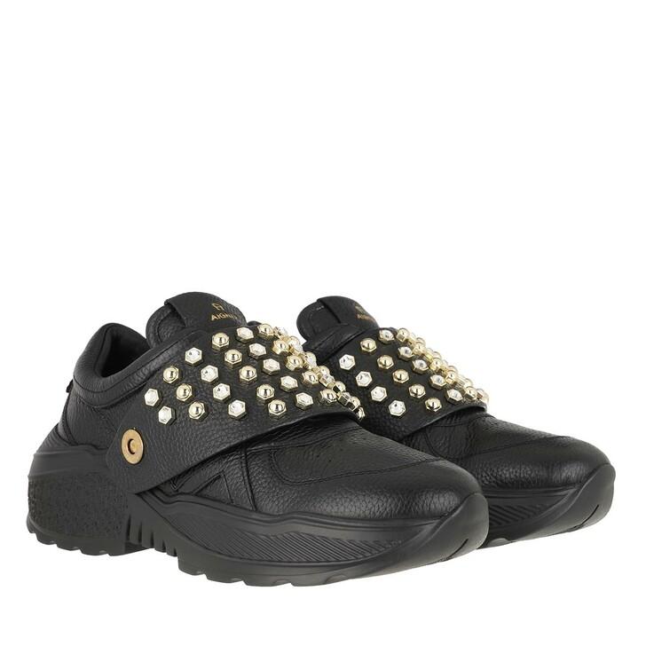 shoes, AIGNER, Jenny Sneaker Plateau Black