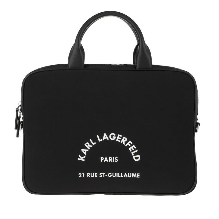 Handtasche, Karl Lagerfeld, Rue St Guillaume Laptop Sleeve Bag Black