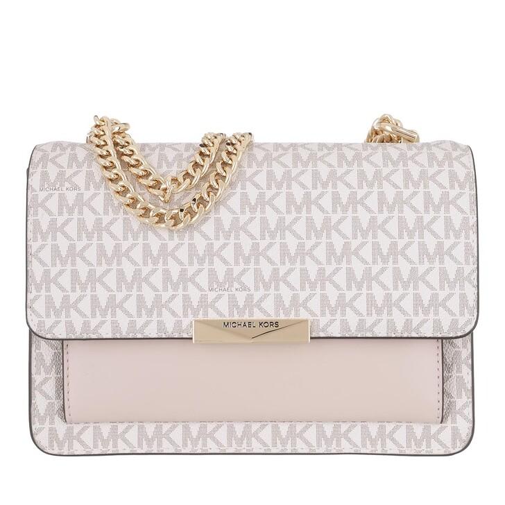 bags, MICHAEL Michael Kors, Jade Large Gusset Shoulder Vanilla/Softpink