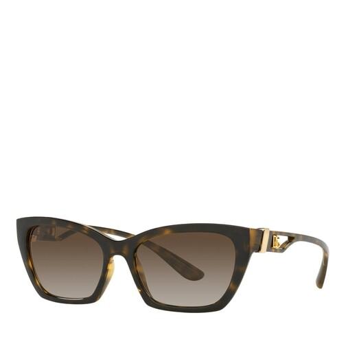 dolce&gabbana -  Sonnenbrille - 0DG6155 - in braun - für Damen
