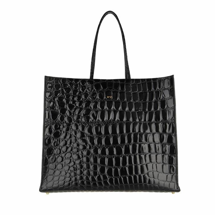 bags, N°21, Maxi Shopper Cocco Black