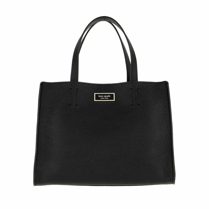 bags, Kate Spade New York, Sam Medium Satchel Bag Black