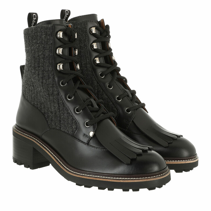 shoes, Chloé, Franne Sock Ankle Boots Black