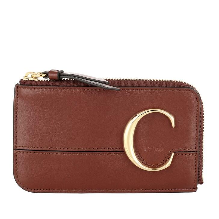 Geldbörse, Chloé, C Small Purse Sepia Brown