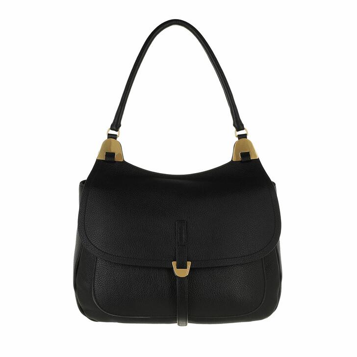 bags, Coccinelle, Fauve Handbag Bottalatino Leather Noir