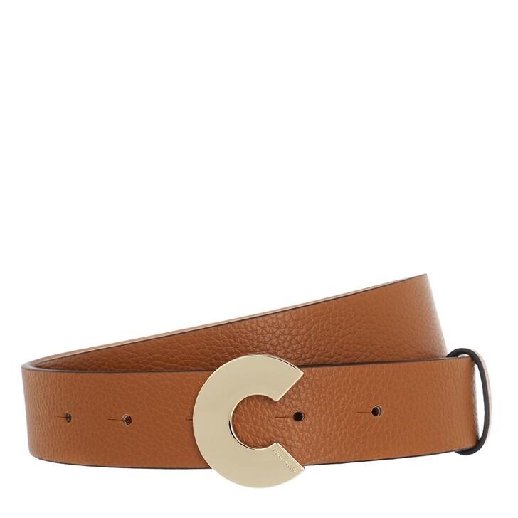 """Gürtel, Coccinelle, Logo """"C"""" Belt Caramel"""