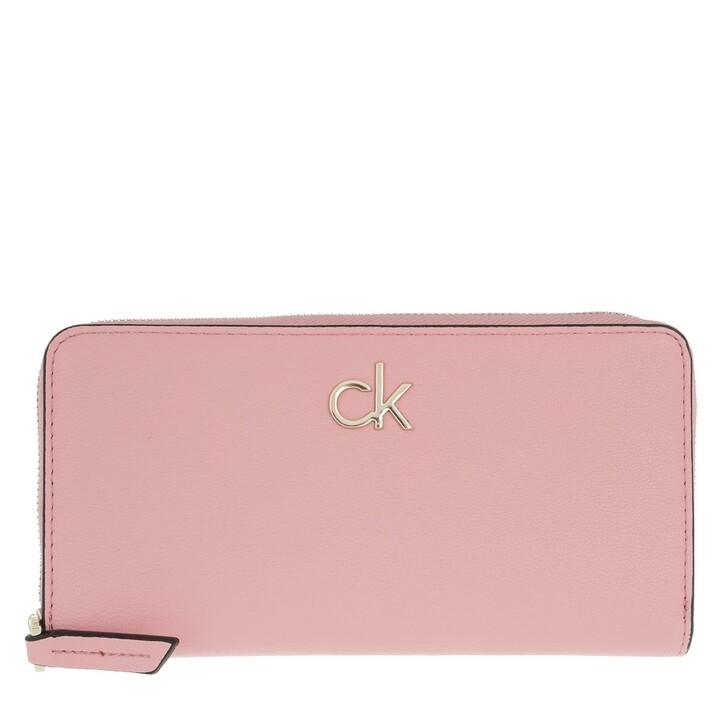 Geldbörse, Calvin Klein, Large Zip Around Wallet Shadow Rose