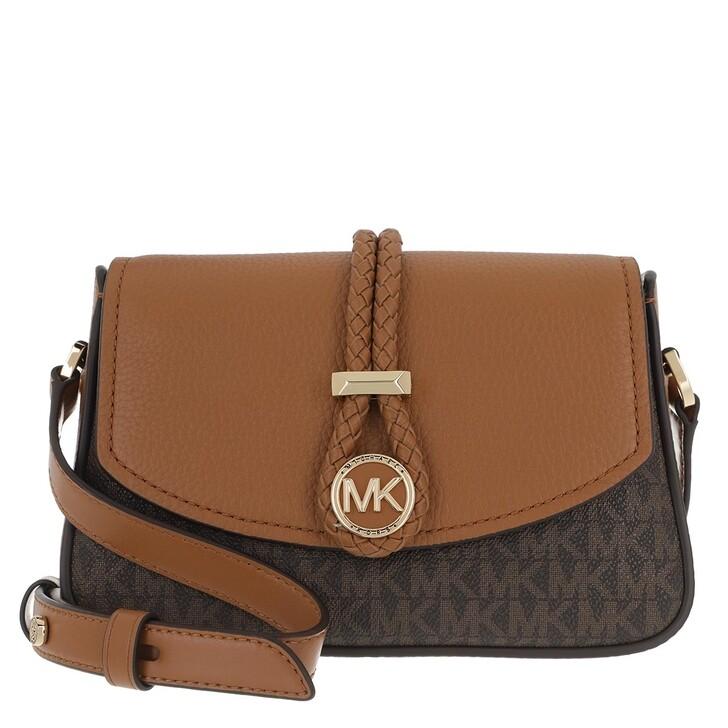 Handtasche, MICHAEL Michael Kors, Lea Small Crossbody Handbag   Brown/Acorn