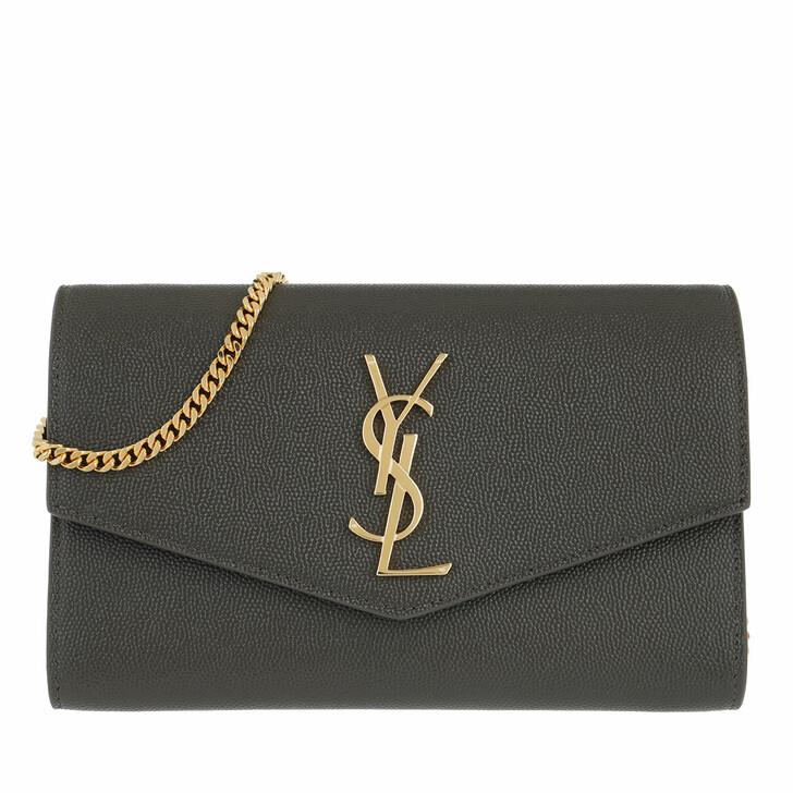 Handtasche, Saint Laurent, Flap Chain Crossbody Bag Poudre Oro