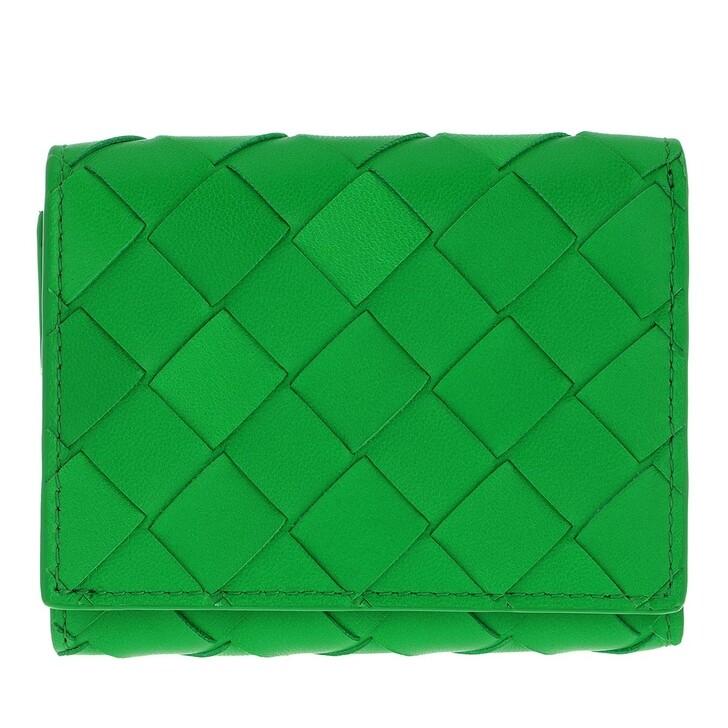 wallets, Bottega Veneta, Trifold Wallet With Zip Parakeet