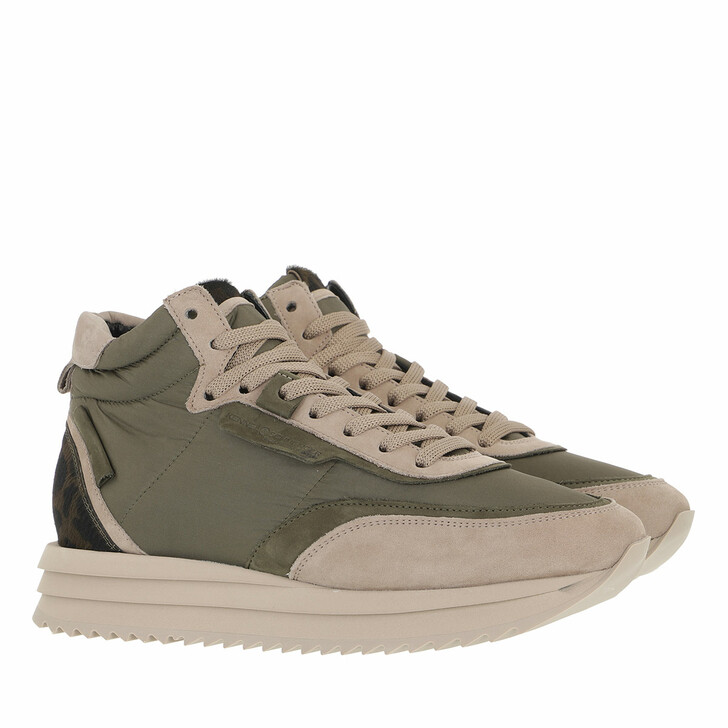 shoes, Kennel & Schmenger, Jazz Sneaker Olive/ Taupe