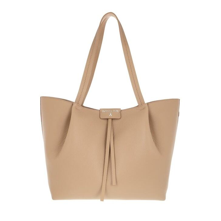 Handtasche, Patrizia Pepe, Shopping Bag Pompei Beige