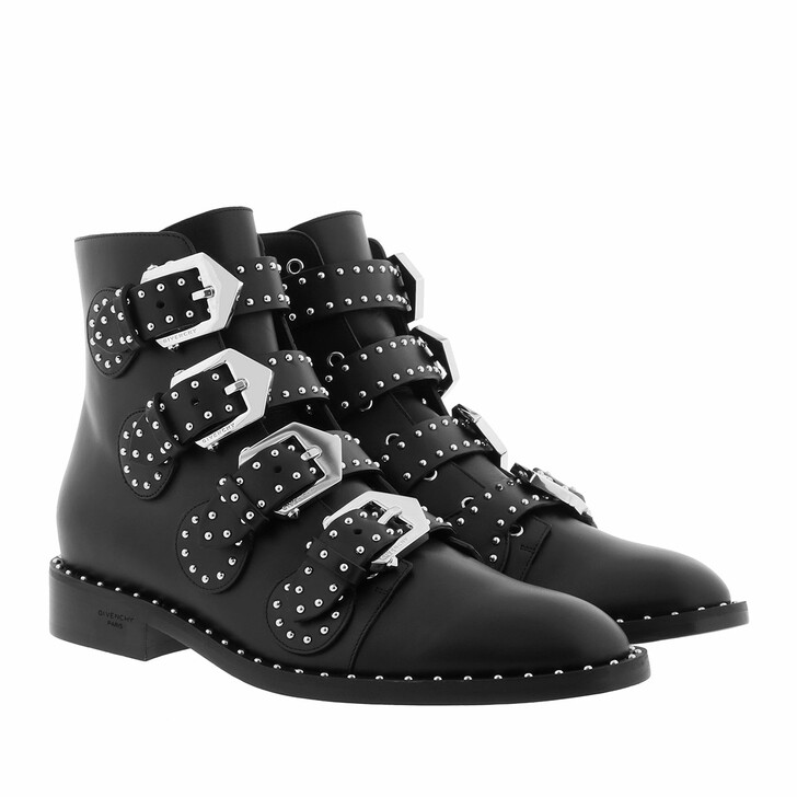 Schuh, Givenchy, Elegant Studs Ankle Boots Leather Black