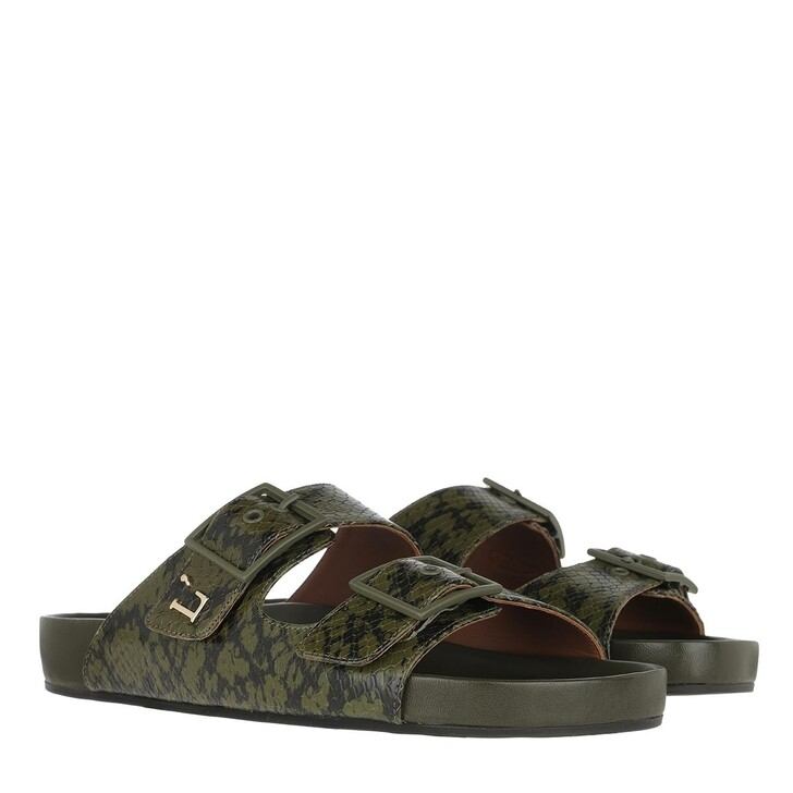 Schuh, L´Autre Chose, Flat Ayers Prin Kaki Green