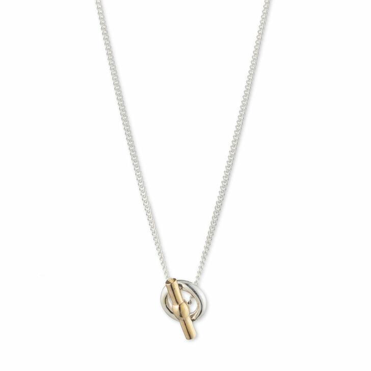 """necklaces, Lauren Ralph Lauren, Necklace 14"""" Toggle Pendant Silver/Two Tone"""