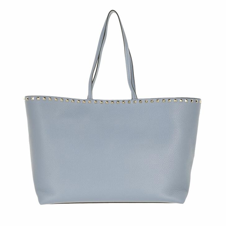 bags, Valentino Garavani, Rockstud Studded Shopping Bag Leather Light Blue
