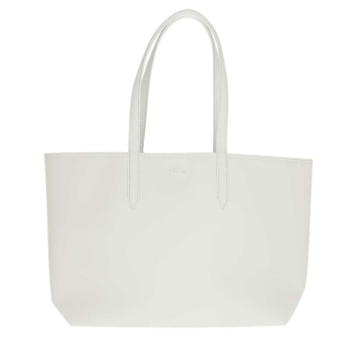 Handtasche, Lacoste, Anna Shopping Bag White Navy Blue Agave Red